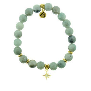 T. Jazelle Amazonite Gold Your Year Bracelet