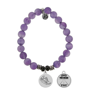 T. Jazelle Amethyst Run Your Own Race Bracelet