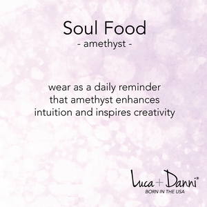 Dogtooth Amethyst Soul Food,  Luca + Danni card