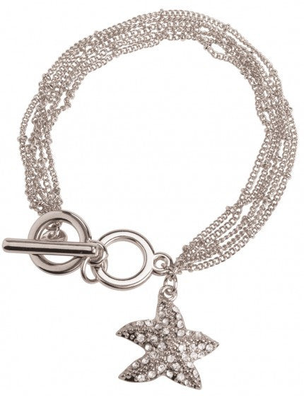 Starfish Charm Toggle Bracelet