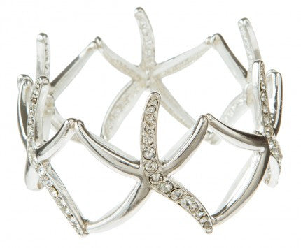 Crystal Accent Starfish Bracelet