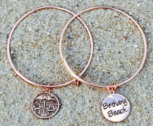 Bethany Beach Delaware Bangle, Rose Gold, Chrysalis
