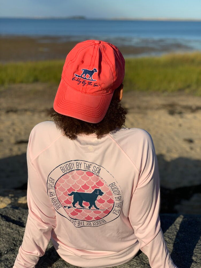 Buddy by the Sea Melon Navy Hat