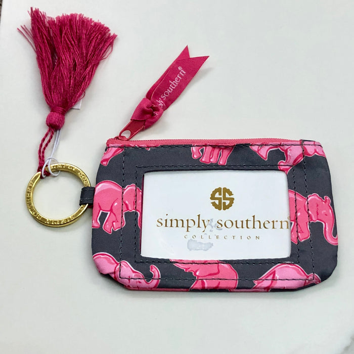 Simply Southern Elephant Key ID Holder