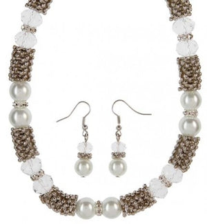 Pearl Beaded Necklace Set