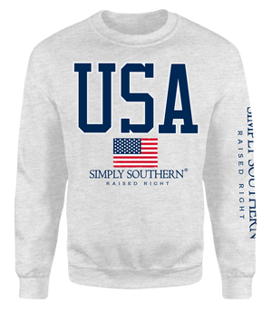 Simply Southern USA Crew Neck Sweatshirt