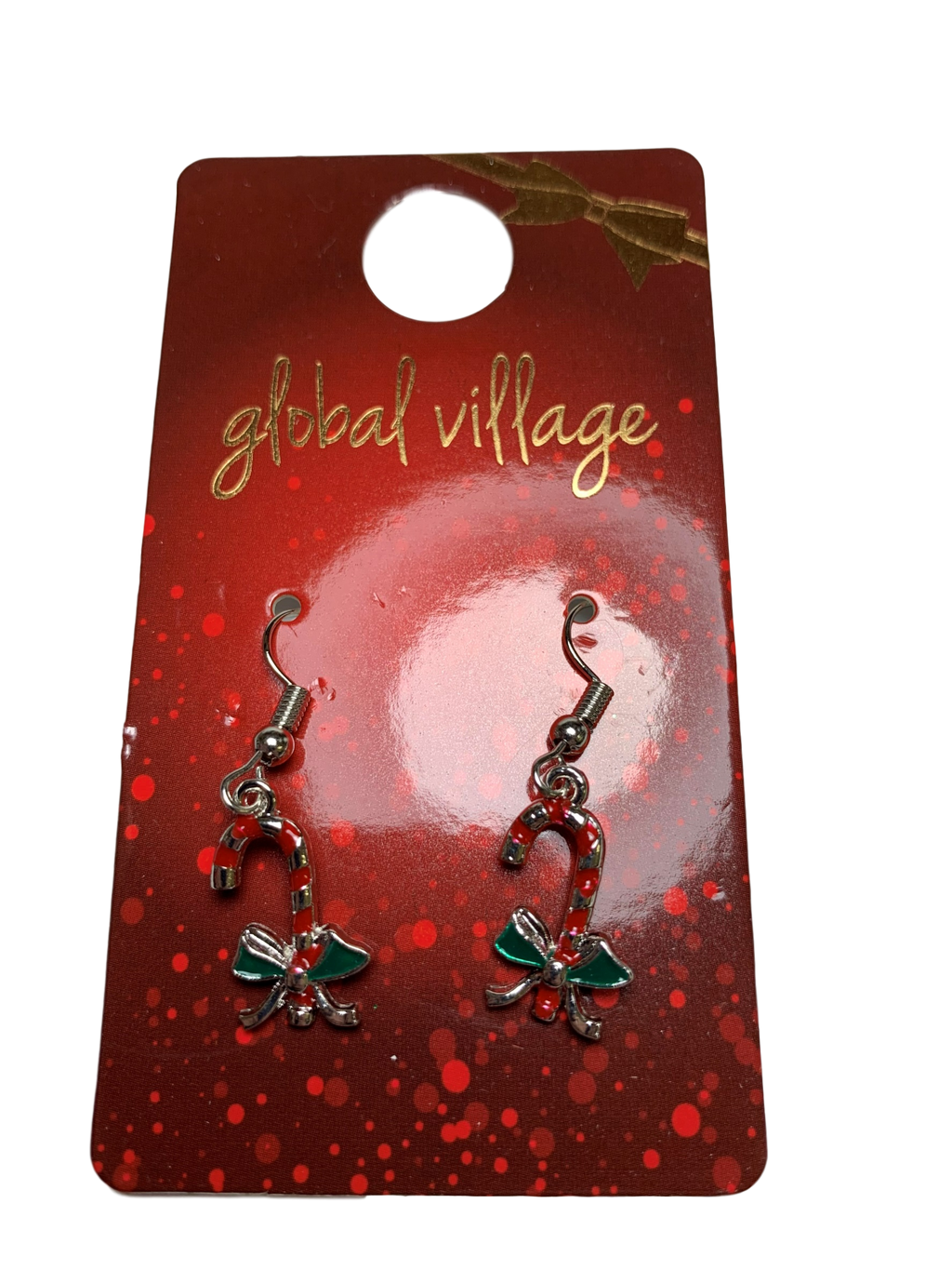 Global Village Candy Cane Earrings