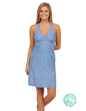 Spunkwear Scales V-neck Dress