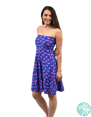 Southwind Laguna Hot Pink Crab Dress
