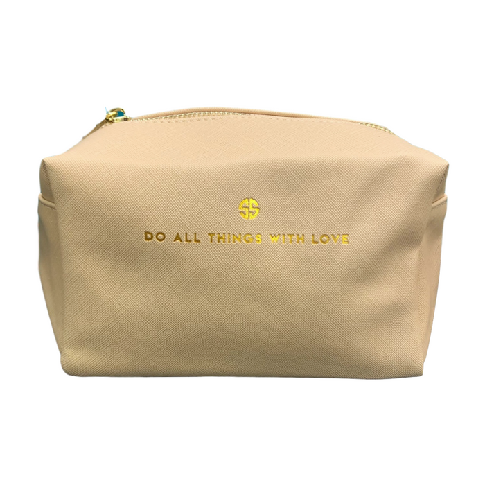 Do All Things with Love Vegan Leather Cosmo Bag