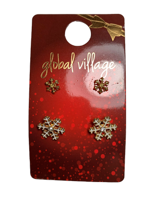 Global Village Snowflake Set Earrings