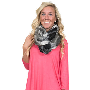 Simply Southern Black and Grey Infinity Scarf