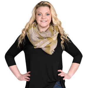 Simply Southern Olive and Grey Infinity Scarf