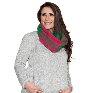 Simply Southern Pink and Green Infinity Scarf