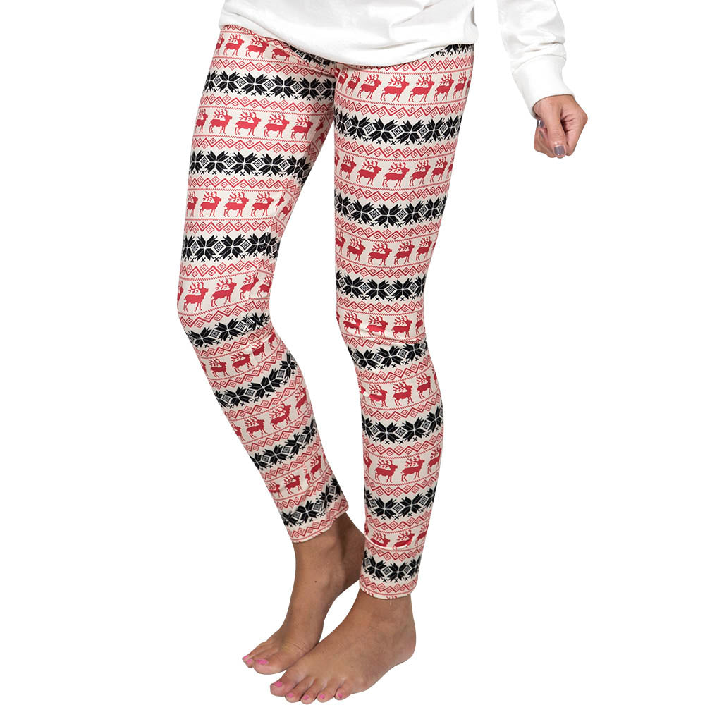 Simply Southern Reindeer Cream Leggings