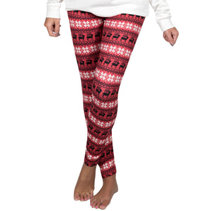 Simply Southern Red Reindeer Leggings