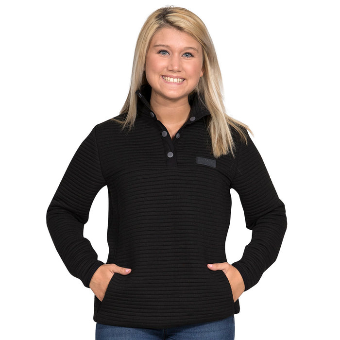 Simply Southern Black Ribbed Pullover