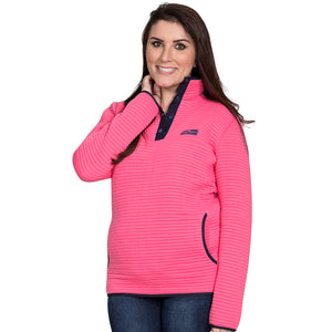Simply Southern Pink Ribbed Pullover