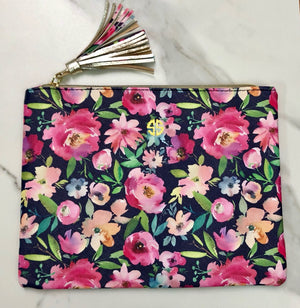 Simply Southern Floral Brush Bag