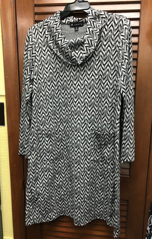 N Touch Black and White Dress