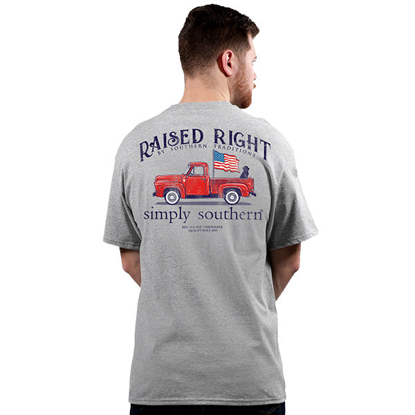 Simply Southern Raised Truck T-Shirt-SMALL ONLY