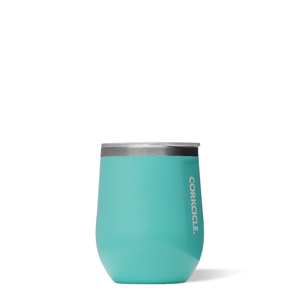 Turquoise 12oz Corkcicle Wine Glass