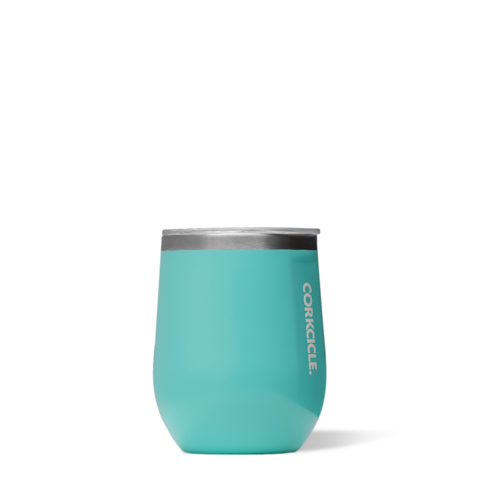 Gloss Turquoise 12oz Corkcicle Wine Glass