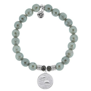 T. Jazelle Grey Agate New Day Bracelet