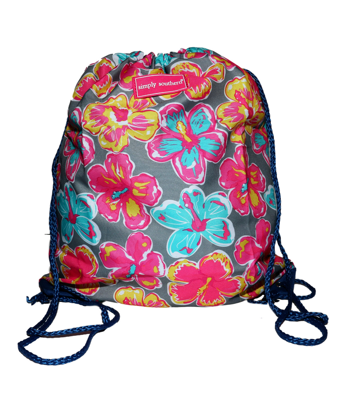 Simply Southern Flower Drawstring Backpack