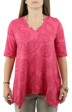 Half Sleeve Asymmetric Tunic