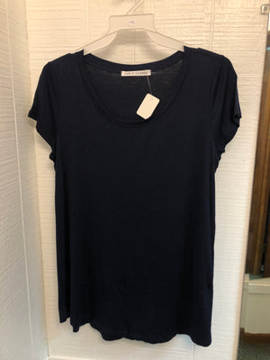 Chris and Carol Navy Plus Size Top