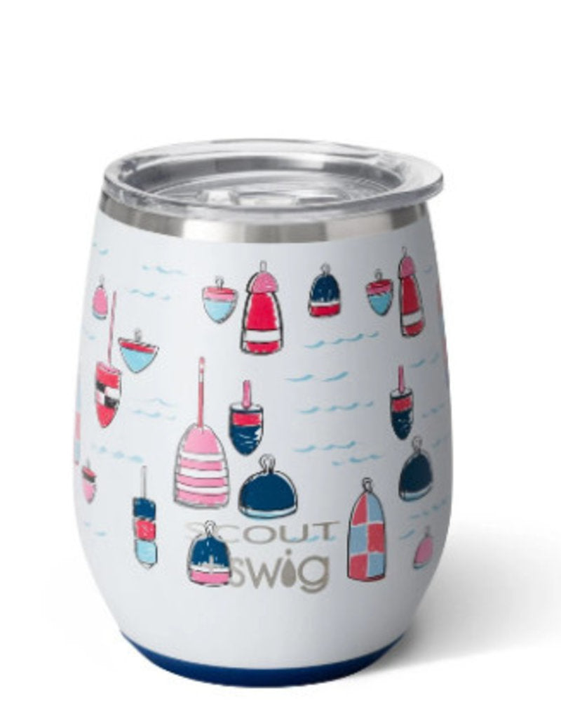 Scout Swig Buoy Oh Buoy Stemless Wine Glass
