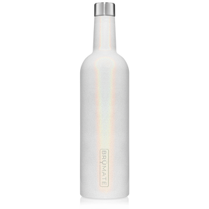 BrüMate 25oz Winesulator Wine Canteen Glitter White
