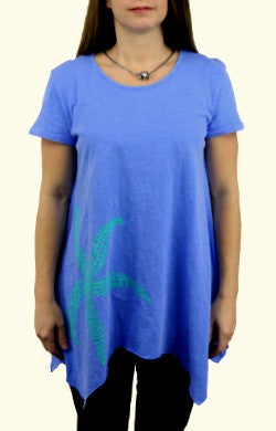 iCantoo Asymmetric Scoop Neck Starfish Tunic