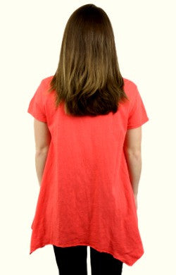 iCantoo Asymmetric Scoop Neck Sunburst Tunic