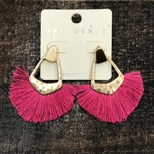 Influence Pink Fringe Earrings