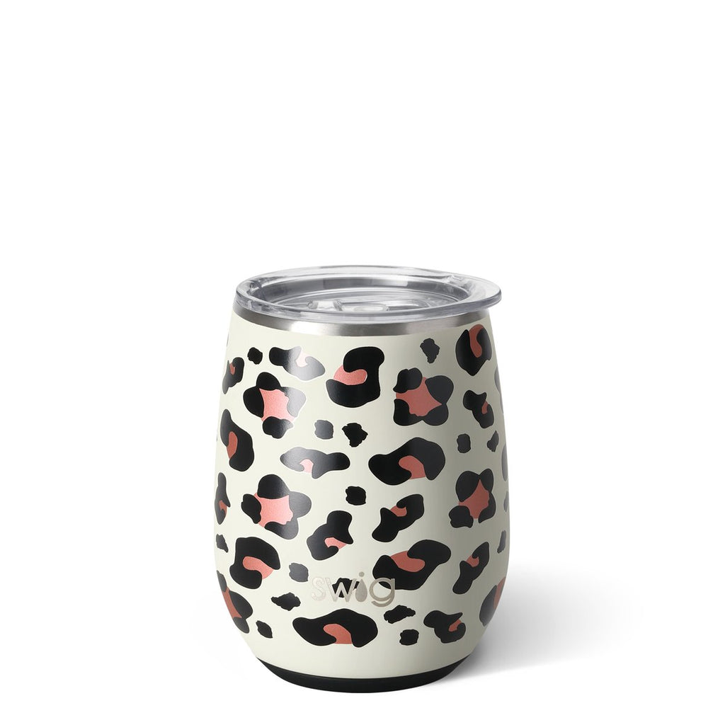 Swig Stemless Wine Glass-Luxy Leopard
