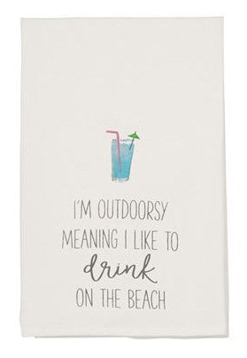 Mudpie Outdoorsy Tea Towel