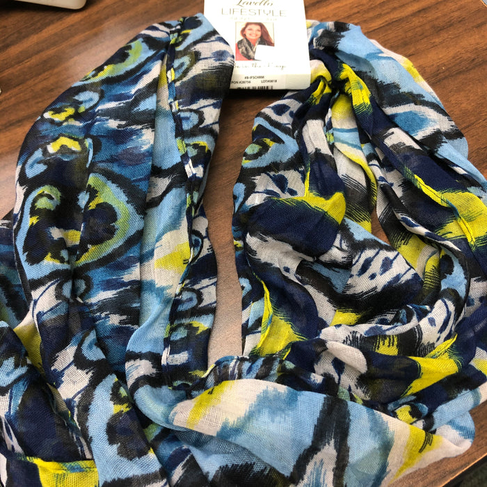 Lavello Scarf-Blue/Yellow