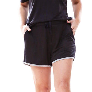 Hello Mello Weekender Shorts-Black