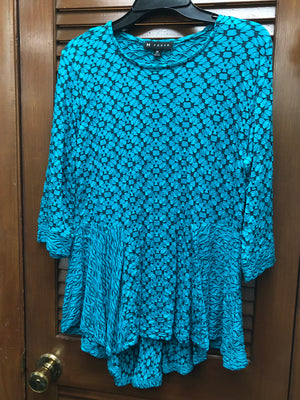N Touch Teal Blouse