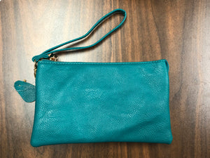 Leather Crossbody-Teal