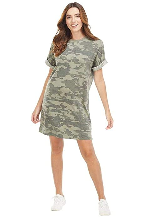Mudpie Elliot T-Shirt Dress-Camo
