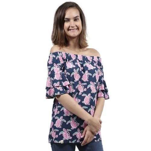 Simply Southern Turtle Off The Shoulder Top