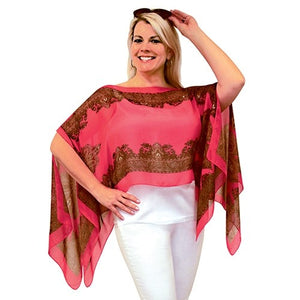 Jack and Missy Convertible Poncho-Pink