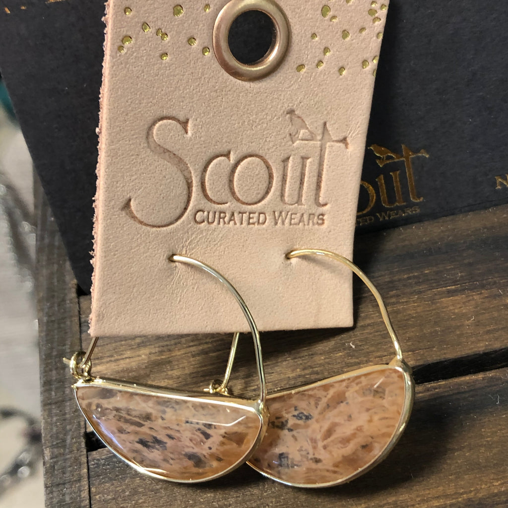 Scout Earrings-Brown Marble