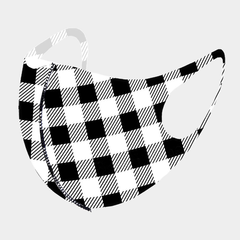 Gingham Plaid Face Mask