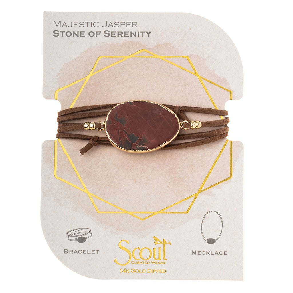 Scout Jasper Wrap Bracelet/Necklace Convertible Jewelry