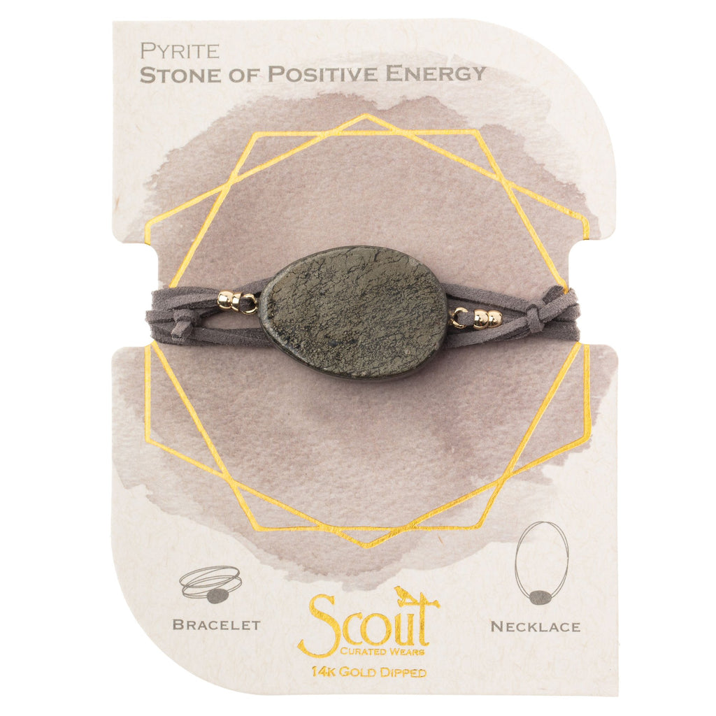 Scout Pyrite Wrap Bracelet/Necklace Convertible Jewelry