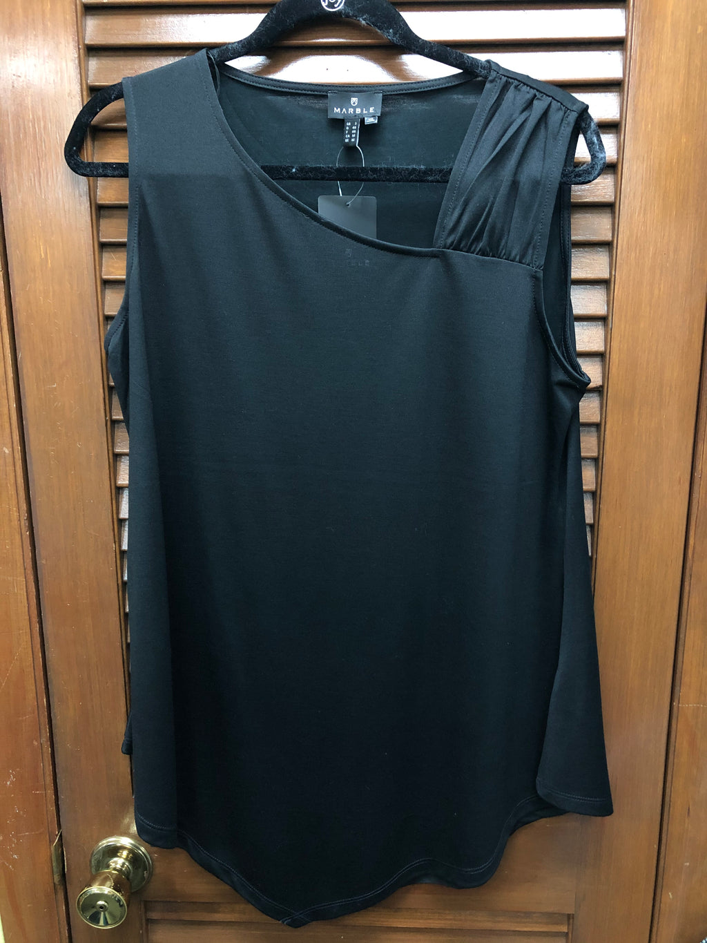 Black Marble Sleeveless Top